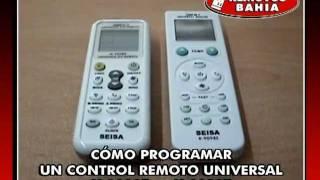CÓMO PROGRAMAR CONTROL REMOTO UNIVERSAL AIRE ACONDICIONADO K-1028E K-9098E VA-CR1000U ECR UNI-AR
