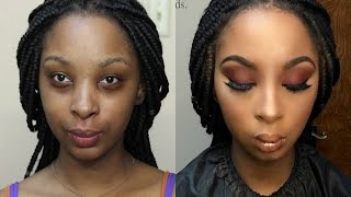 WATCH ME WORK! CLIENT TUTORIAL! EASY GLAM!!!