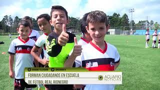 Forman ciudadanos en escuela de fútbol Real Rionegro