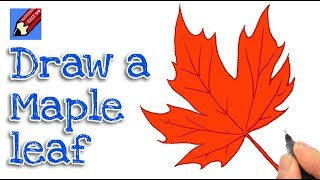 How to draw a Maple Leaf Real Easy for thanksgiving - Step by Step