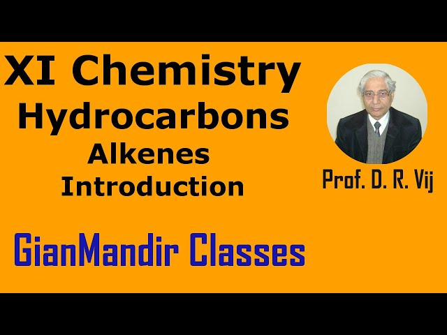 XI Chemistry | Hydrocarbons | Alkenes: Introduction by Ruchi Ma'am