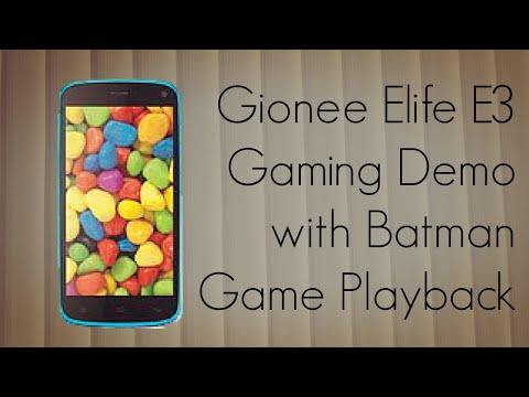 Gionee Elife E3 Gaming Demo with Batman Game Playback - PhoneRadar