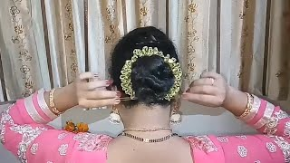 Simple Gajra hairstyle for wedding/party || bridal Gajra hairstyle || Hair style girl || hairstyle