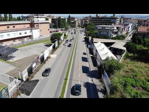 Riprese aeree di viale Ghandy , realizzate per il comune di Pomigliano D'arco