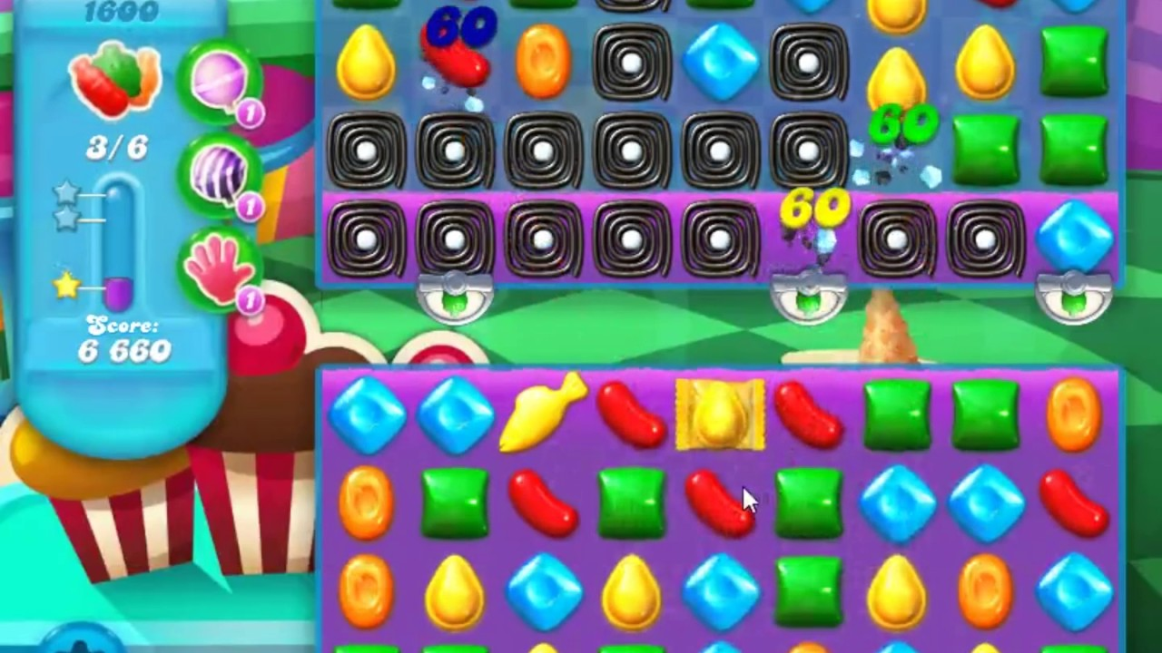 Candy crush soda saga level 1600 no boosters youtube - 1600 candy crush ...