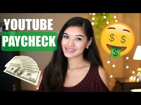 first YOUTUBE PAYCHECK | How much do small youtubers make