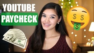 Video first YOUTUBE PAYCHECK | How much do small youtubers make download MP3, 3GP, MP4, WEBM, AVI, FLV November 2018