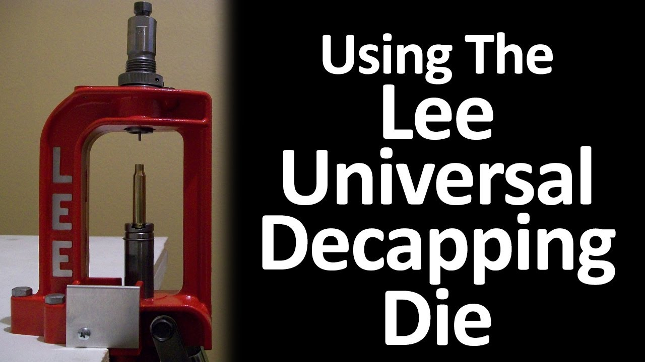 Lee precision decapping die parts: decapping die instru.