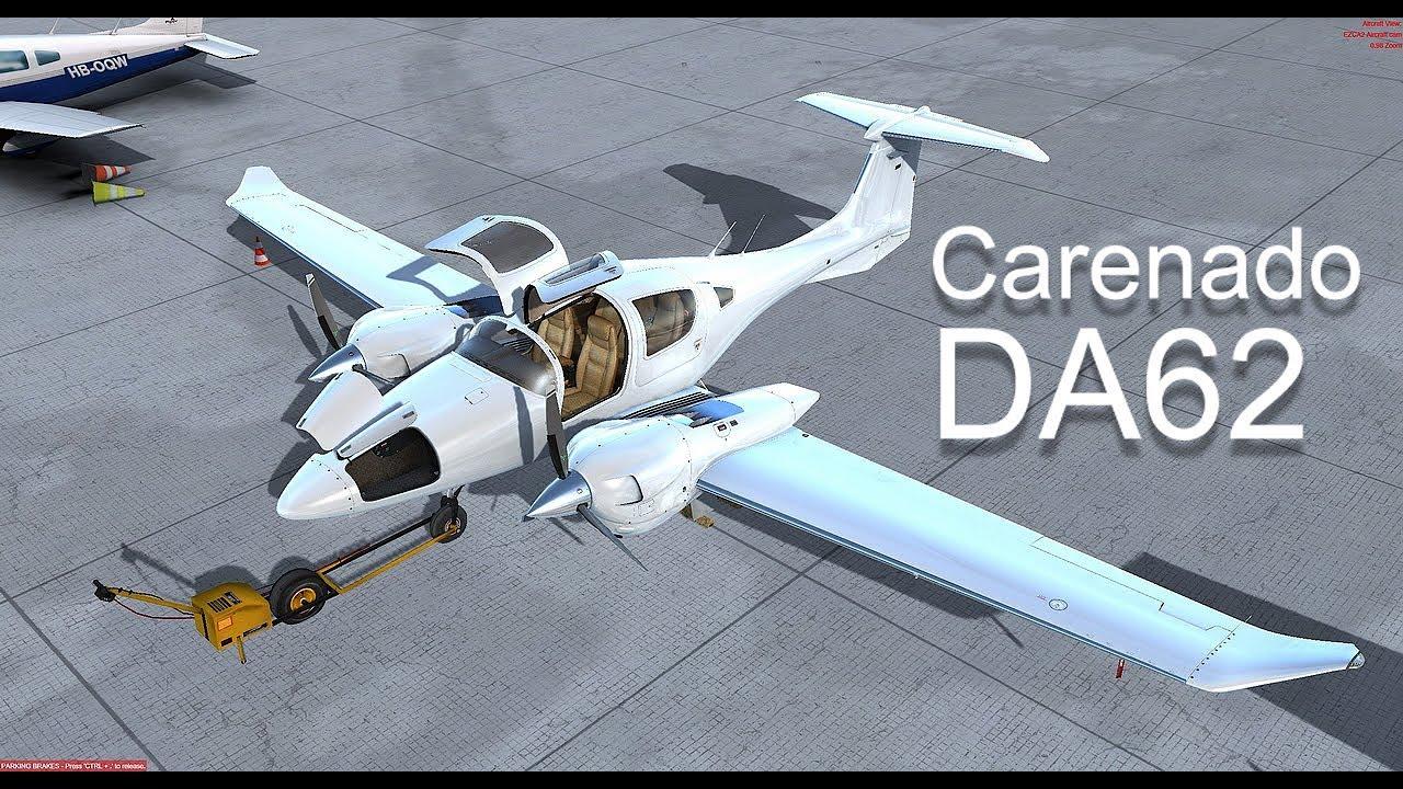 [P3Dv4 3]Carenado DA-62 || Innsbruck || Visual approach Rwy 08