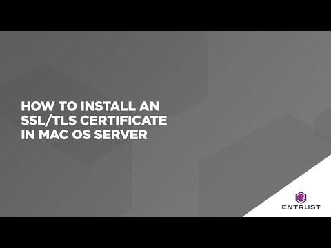 How To Install An SSL/TLS Certificate In MAC OS Server