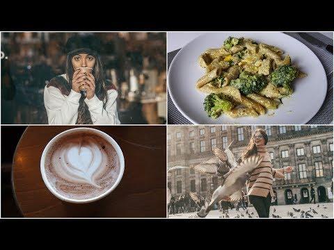 UM DIA COMIGO: Sessão de fotos em Amsterdam, MUITO frio e receita de uma massa deliciosa!