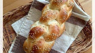 造型麵包~十字辮子包 (簡易麵種)