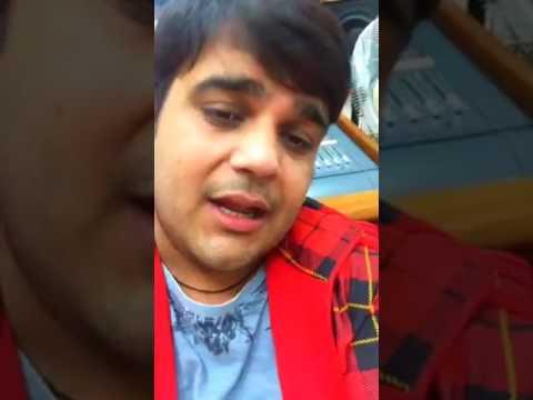Nand new song record by sachin Ahuja at Delhi studio