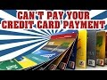 What to do if you can't Make Your Credit Card Payments Columbia, SC