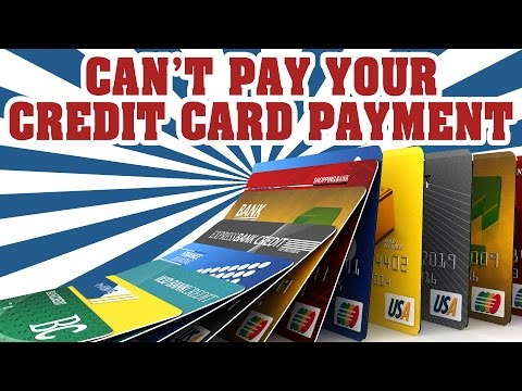 What To Do If You Cant Make Your Credit Card Payments Columbia Sc
