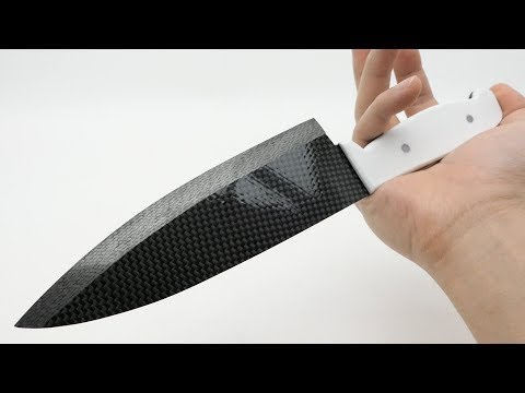 A knife was made with carbon fiber is sharpest in the