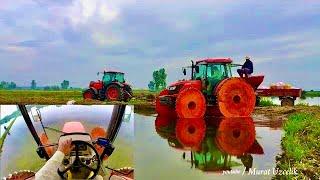 GoPro Kubota M8540 Demir tekerlek Çeltik ekiyoruz Topcon Kubota M135GXII rice cultivation