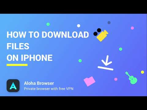 How to download files on iPhone - YouTube