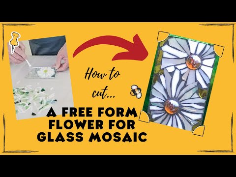 How To Make Free Form Flower In Stained Gl Mosaic