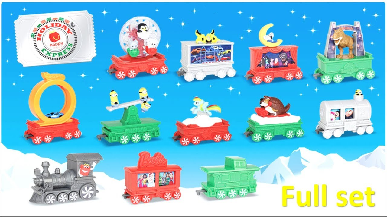 New McDonalds Happy Meal Toys - 2017 Holiday Express Train ...