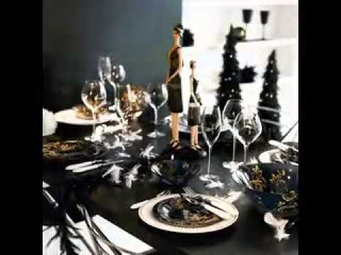 Black and white party decorations ideas youtube - Black silver and white party decorations ...