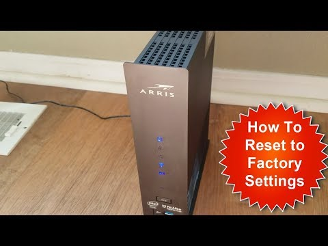 How to Factory Reset ARRIS Surfboard to Default Settings
