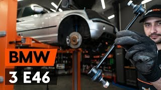 Hogyan cseréljünk Stabilizátor összekötő BMW 3 Touring (E46) - online ingyenes videó