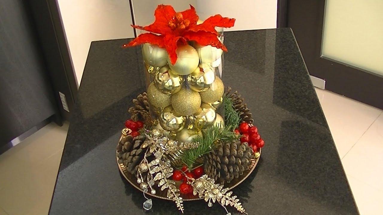 Centro de mesa navide o varias formas diy youtube - Centro de mesa navideno ...