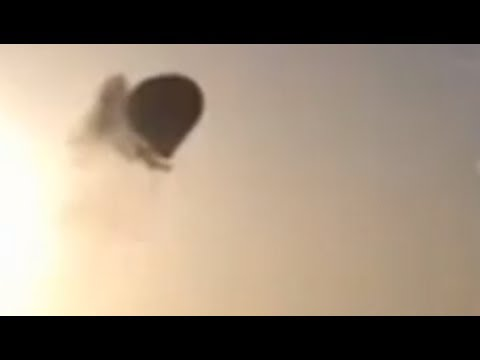 VIDEO SHOCK! Hot Air Balloon Crash - Luxor Egypt 26 Feb 2013