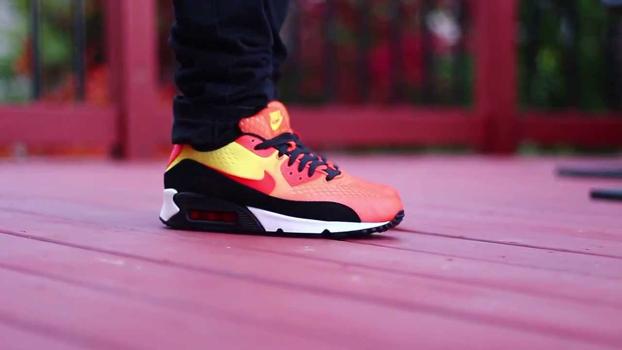newest f10df c37b8 Nike Air Max 90  Sunset (With On Foot)