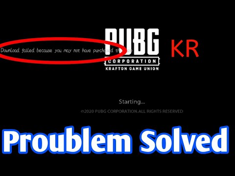 Download Failed Because You May Not Purchased This App |Proublem Solved | Pubg open nahi ho raha hai