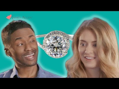 Couples Take The Engagement Ring Challenge // Presented by BuzzFeed & JamesAllen.com