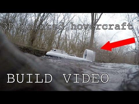 3D printed hovercraft build