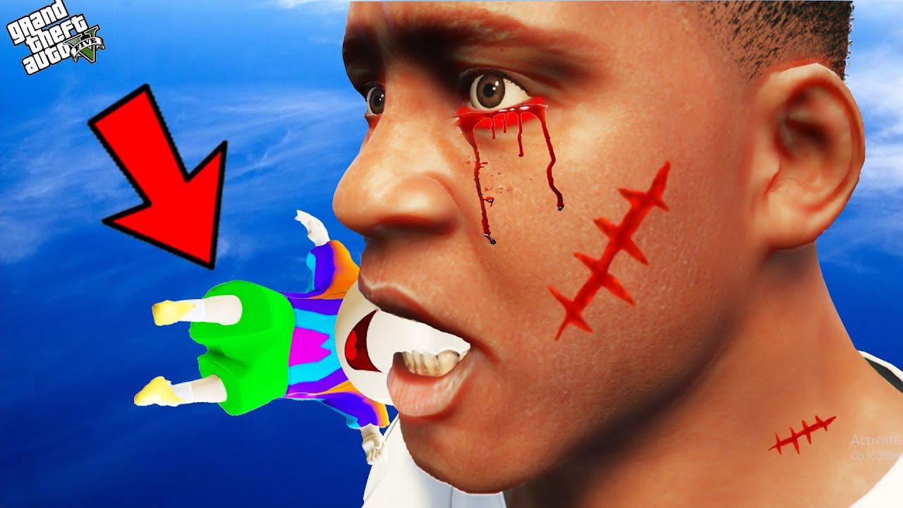 GTA 5 : Franklin Become Devil Franklin And Attack & Eat Shinchan In GTA 5 ! (GTA 5 mods)