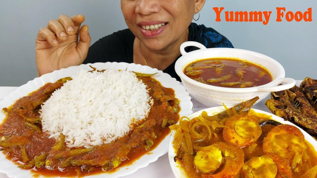 Asmr Egg and small fish Eating Mukbag Food Show