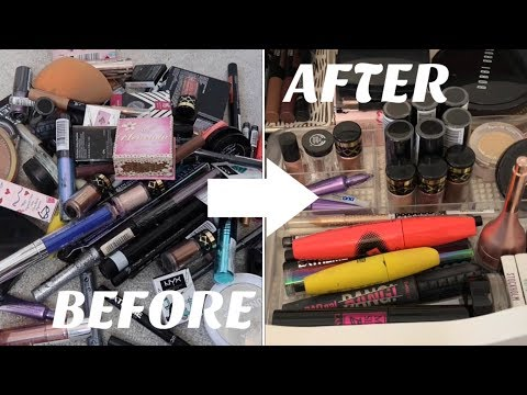 HUGE MAKEUP CLEAR OUT & DECLUTTERING | Simply Grace