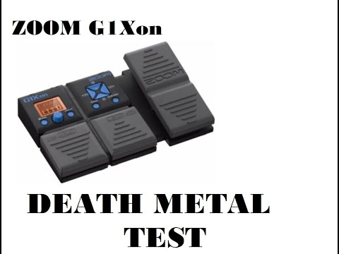 zoom g1xon power metal effect - death metal tune