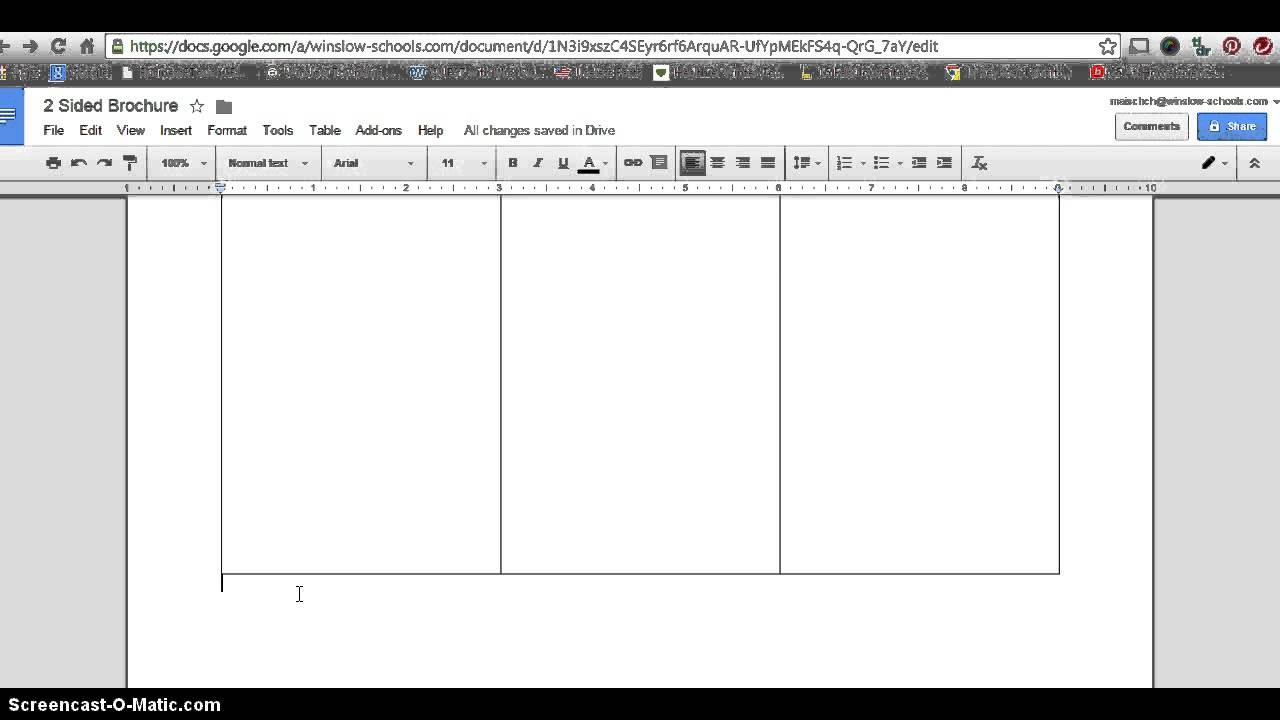 how to make 2 sided brochure with google docs