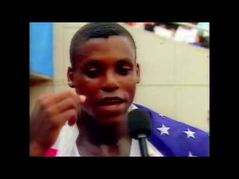 4111 Olympic Track & Field 1992 Interview Carl Lewis