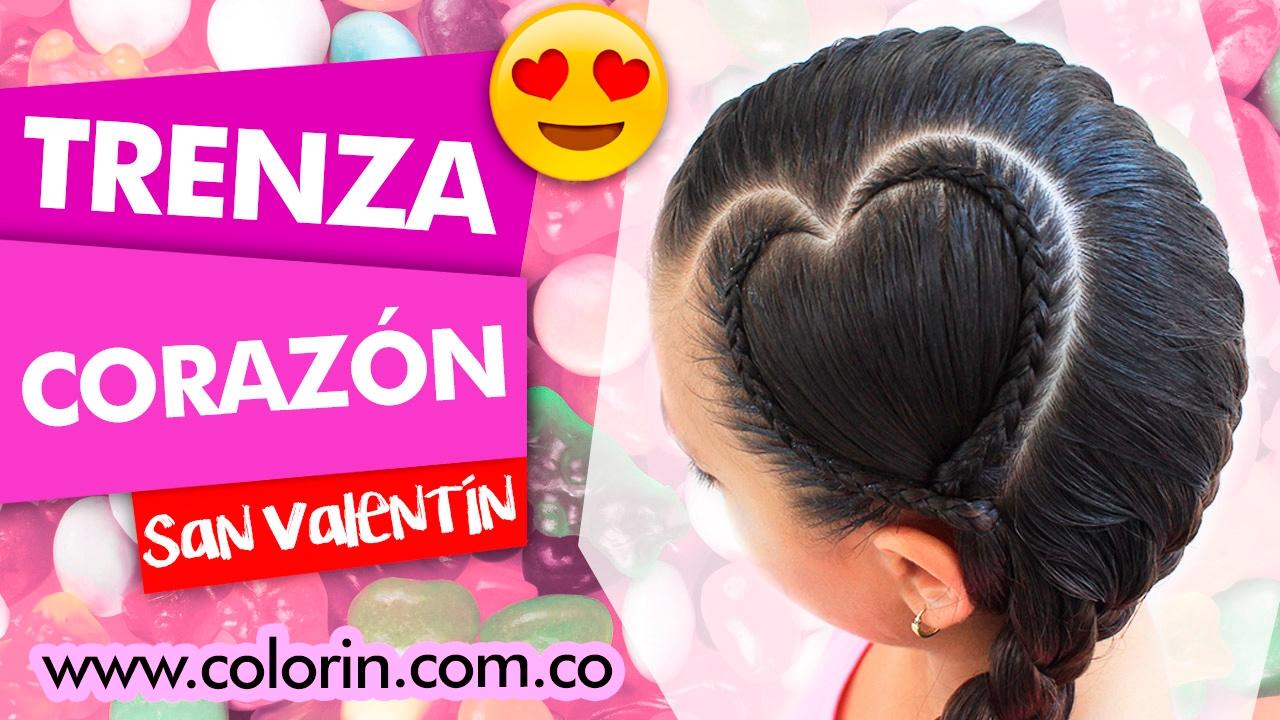 TRENZA DE CORAZON ♥ Peinado Para San Valentin ♥ Valentine