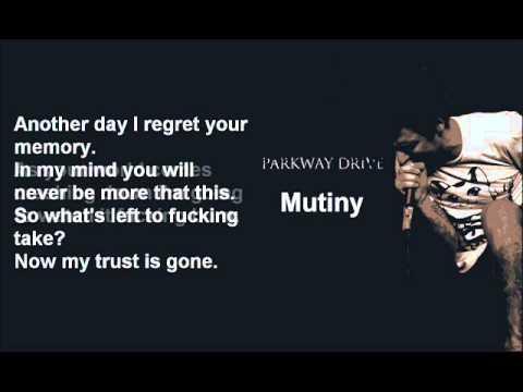 Parkway Drive - Mutiny Lyrics Video