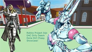 Roblox Project Jojo Dirty Deeds Done Dirt Cheap Showcase!