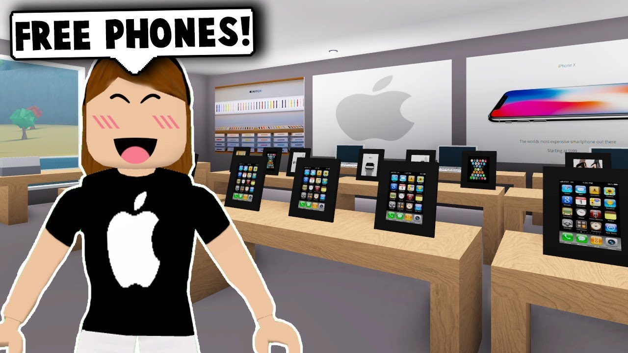 I Made An Apple Store In My Mall Roblox Bloxburg Roblox