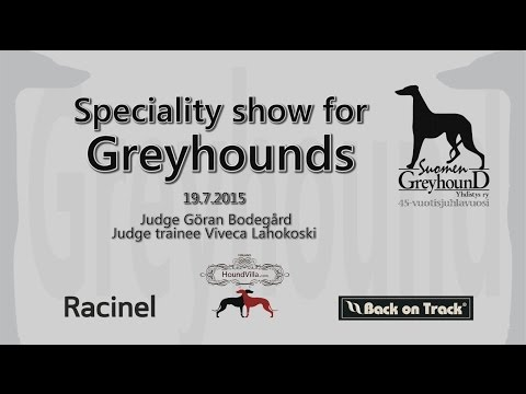 Finnish Greyhound Club 45. Anniversary Speciality Show 2015