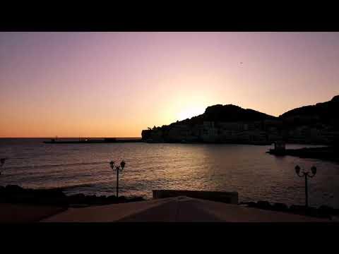 Timelapse sunrise in pigadia