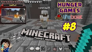 Minecraft PE: Hunger Games #8 - Çakmak Vs. Elmas Kılıç w/CanPlay