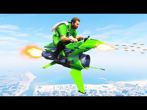 UNRELEASED $5,000,000 FLYING ROCKET BIKE! (GTA 5 DLC)
