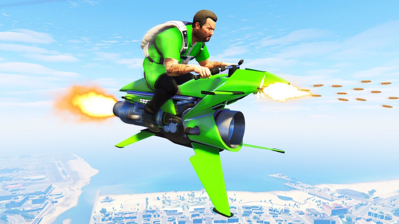 UNRELEASED $5,000,000 FLYING ROCKET BIKE! (GTA 5 DLC)