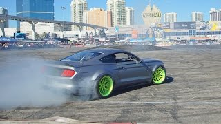 """RTR 2015 Mustang Drift Battle at SEMA 2014 """"Ford Out Front"""""""