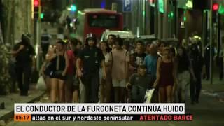 Dos detenidos y un huido tras el atentado en La Rambla de Barcelona @A3Noticias